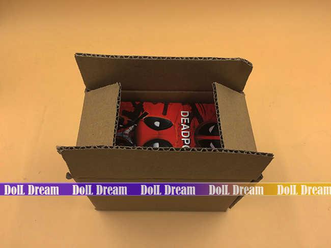 13.5 cm Q versão x-men Deadpool ação PVC figura brinquedos colecionáveis carro bobblehead Dolls modelo