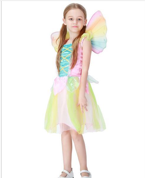 Cute Elf Sprite Dress Neverland Tinkerbell Garden Fairy Kids Costume Lovely  Woodland Girl Little Fairy Costume Dress In Girls Costumes From Novelty ...