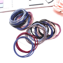 2019 New Hot Sale Solid 50pcs/lot Hair Accessories Women Girls Rubber Bands Scrunchy Elastic Headband Decorations Ties Gum For