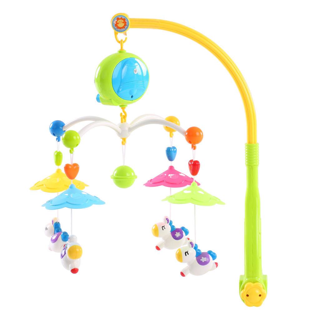 Baby bed mobile - Baby Bed Bell Musical Mobile Crib Bell Baby Toys Dreamful Bed Ring Hanging Rotate Bell Rattle