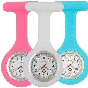 Image 1 - Infirmière en silicone lumineux montres femmes dames médecin FOB montres de poche en gros médecin médical hôpital quartz accrocher montres