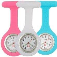 Luminousซิลิโคนพยาบาลนาฬิกาผู้หญิงสุภาพสตรีDoctor FOBนาฬิกากระเป๋าขายส่งแพทย์โรงพยาบาลควอตซ์แขวนนาฬิกา