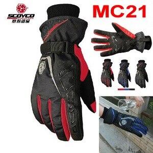 2015 New Scoyco waterproof warm motorcycle gloves MC21 Moto cycling racing gloves motorbike glove of leica size M L XL XXL