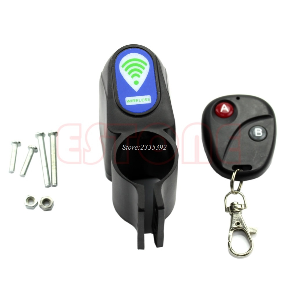 Lock Bicycle Cycling Security Wireless Remote Control Vibration Alarm Anti-theft 4 in 1 bicycle bike high quality security lock wireless alarm anti theft remote control new 828 promotion