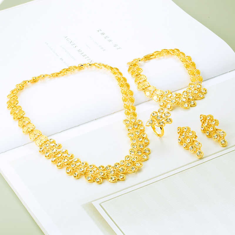 זהב אפריקאי צבע האתיופית תכשיטי אריתריאה Habesha סודן סט כלה חתונה תכשיטי תליון שרשרת עגיל ערבי עבור נשים