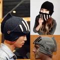 Family Hats Novelty Roman Knight Helmet Caps Handmade Knit Warm Winter Mask Hats Adult Party Mask Beanies