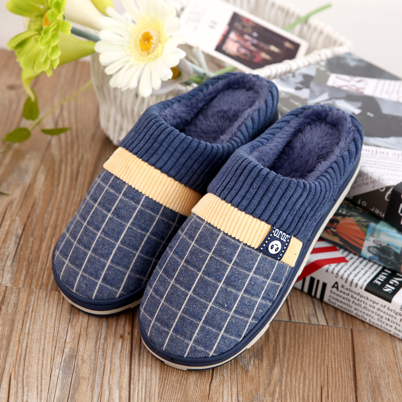 Ake Sia 2017new cotton slippers for men household slippers to keep warm shoes Winter non-slip soft slippers каталог sia
