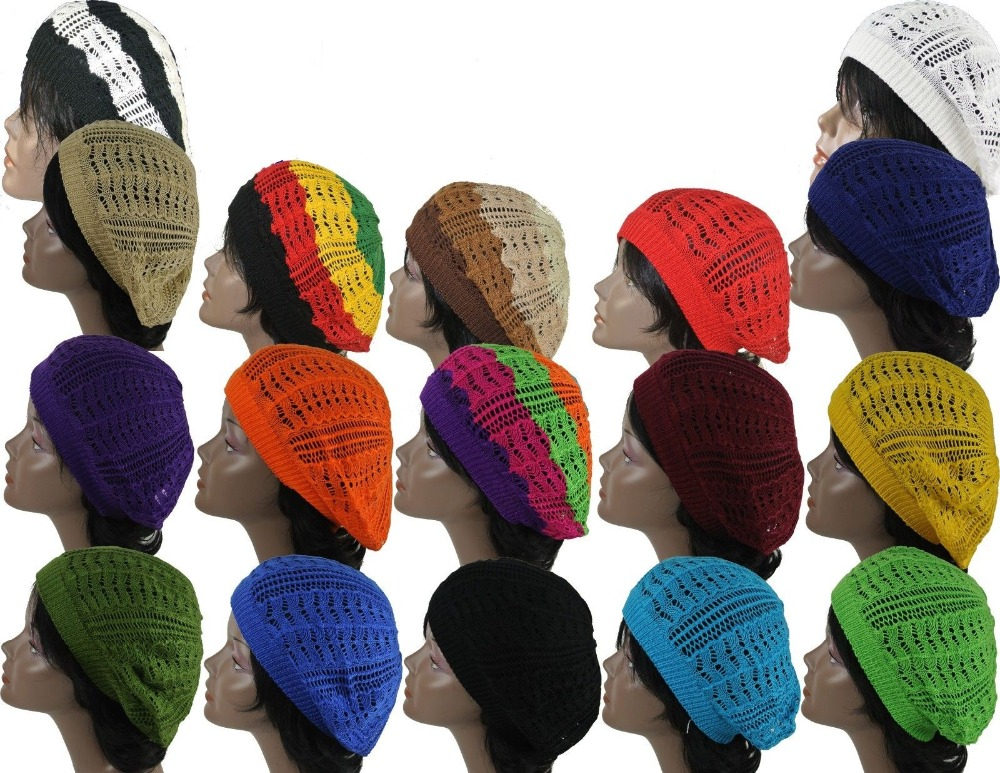 Musim Semi Warna Acrylic Crochet Tam Mode Baret 18 warna