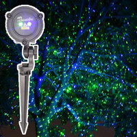 Waterproof Christmas Outdoor Laser Fairy Light Projection for Home Decoration Static Green Blue Holiday Lights