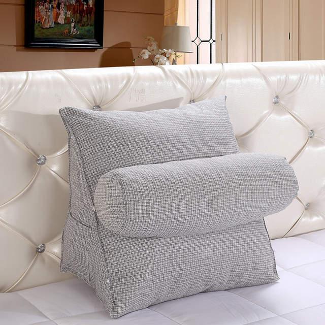 wcic triangle lit coussin de soutien support dossier coussin moelleux avec colonne pour chaise chambre tv
