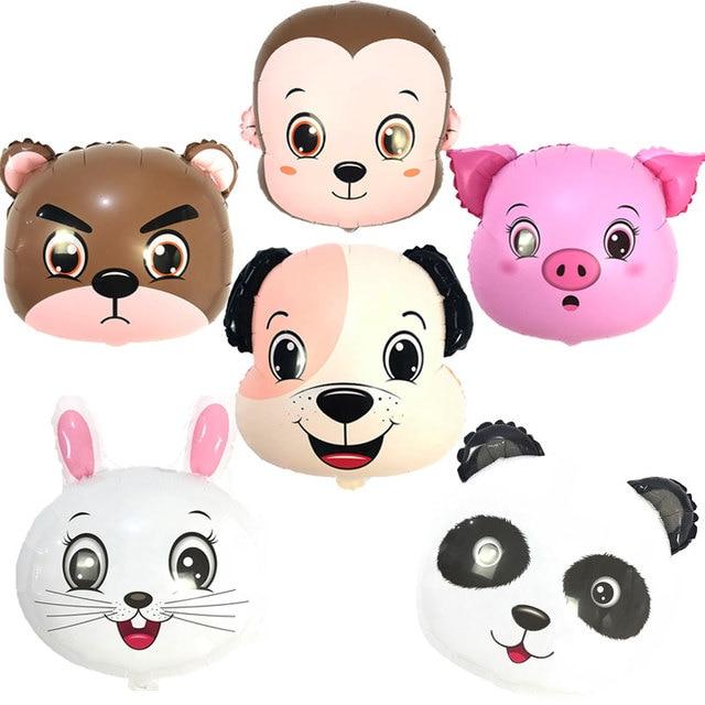 O envio gratuito de New 6 pçs/lote 18 polegada Panda urso coelho porco cão macaco balão da festa de aniversário do chuveiro de bebê decoração crianças brinquedos