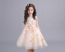 2018 New Summer Flower Girls Dresses For Wedding Lace Girl Formal Birthday Party Dress Princess Gown Kids First Communion Gown недорого