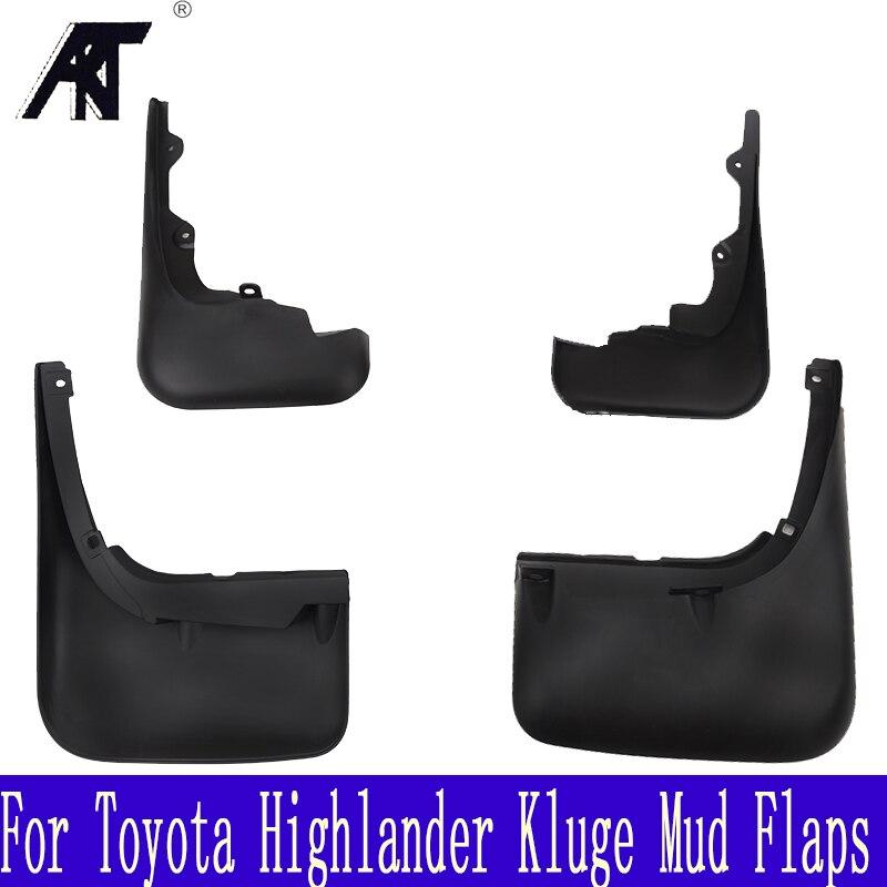 Car Mud Flaps For Toyota Highlander Kluger 2008 2009 2010 Pre-facelift Mudflaps Splash Guards Mud Flap Mudguards Fender Set