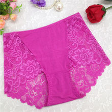 be4e9b8f165e Smooth Women Sexy Floral Lace Boxer Shorts Plus Size High Waist Panties  Briefs Transparent Boyshort Lingerie Culotte Underwear