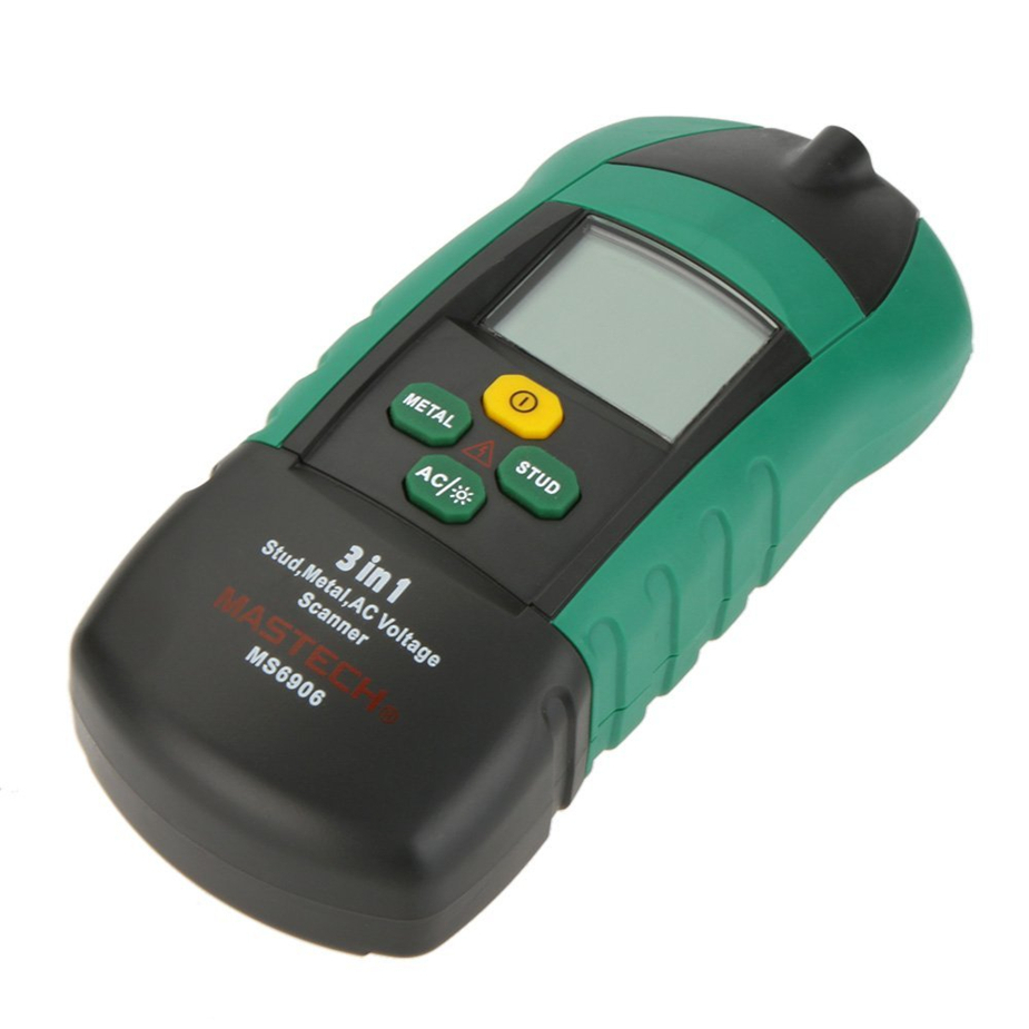 MASTECH MS6906 3 in 1 stud metal detector Wall Scanner detector AC Voltage Tester Thickness Gauge w/ 3 in 1 multi function stud metal ac voltage scanner detector tester thickness gauge w ncv test mastech ms6906 wall scanner