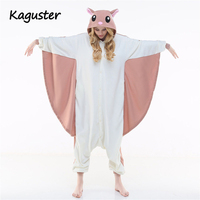 Hot Unisex Adult Pajamas Animal Hooded Nightclothes Cosplay Costume Oneside Sleepwear Flying Squirrel