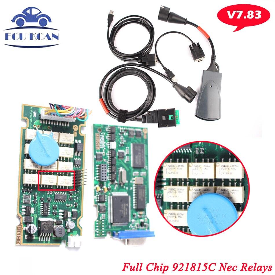 Цена за Высочайшее Качество 921815C Прошивки V7.83 Lexia 3 Полный Чип Diagbox Lexia3 Lexia 3 PP2000 Диагностический Инструмент для Citroen для Peugeot