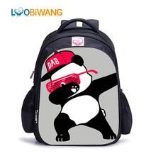 LUOBIWANG Dabbing Panda Children Backpack DAB Dance Schoolbag Hip Hop for Boys and Girls Book Bag Cocuk Cantalari
