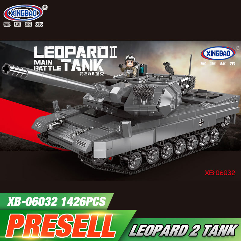 XINGBAO 06032 Military Series The Leopard 2 Tank Set Building Blocks Bricks Tank Toys Model Kids Toys Birthday Christmas Gifts цена