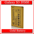 3250mah High Capacity Gold Battery For Samsung Galaxy SIII S3 i9300 GT-i9300 I9305 L710 i747 Bateria Batterij Accumulator AKKU