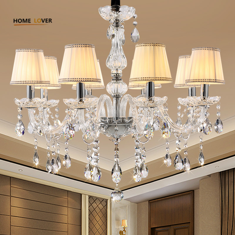 Modern LED Crystal Chandelier Lights Lamp For Living Room Cristal Lustre Chandeliers Lighting Pendant Hanging Ceiling Fixtures restaurant white chandelier glass crystal lamp chandeliers 6 pcs modern hanging lighting foyer living room bedroom art lighting