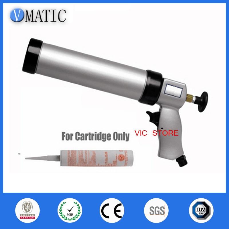 pneumatic caulking glue gun 310ml 1pcs + cartridge 1pcs for glass  цены