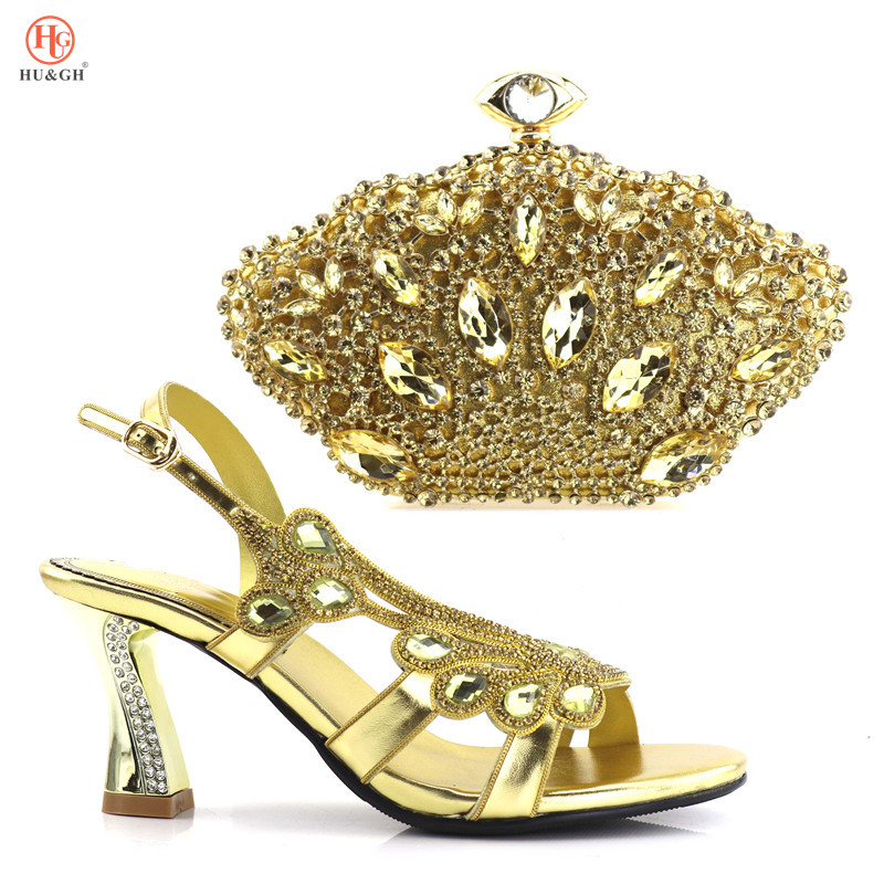 2018 Italian Shoes with Matching Bags for Wedding Women Shoes and Bag to Match for Party Nigerian Shoes and Bag Set Gold Color 2017 italian shoes with matching bags to match wine color new african shoes and matching bag sets for party 1703v0322d30 10