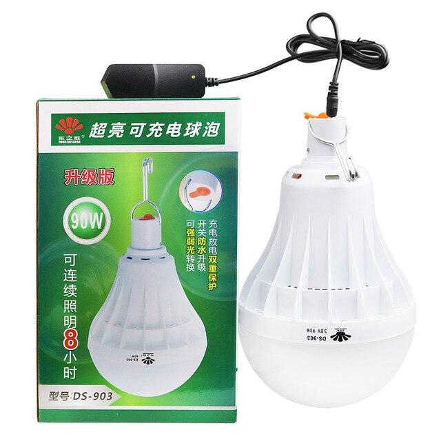 emergency lights home recharging bulbs night market lighting led