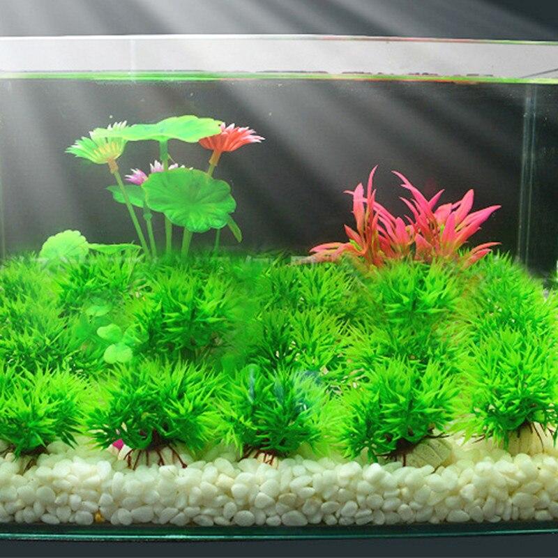 Aquarium Artificial Plant Grass Green Plastic Water Grass Fish Tank Aquarium Aquatic Decorative Landscape Supplies PT1199