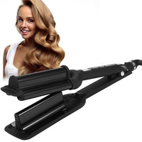 32Mm Deep Wave Hair Curling Irons Ceramic Triple Barrel Big Wave Curlers Big Corrugated Hair Curler Styling Tools Hair Care