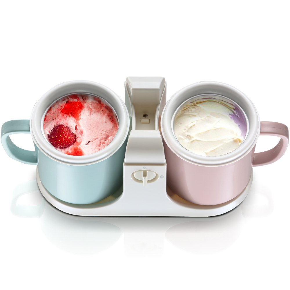 Household Automatic Fruit Ice Cream Machine Mini Child DIY Ice Cream Maker Kitchen Appliances bl 1000 automatic diy ice cream machine home children diy ice cream maker automatic fruit cone soft ice cream machine 220v 21w