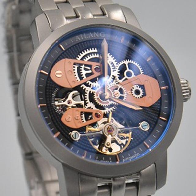 56817e3ef8f Hot moda AILANG top marca de luxo reloj diesel engrenagem Suíço esqueleto relógio  mecânico automático homem relógio de mergulho à prova d  água