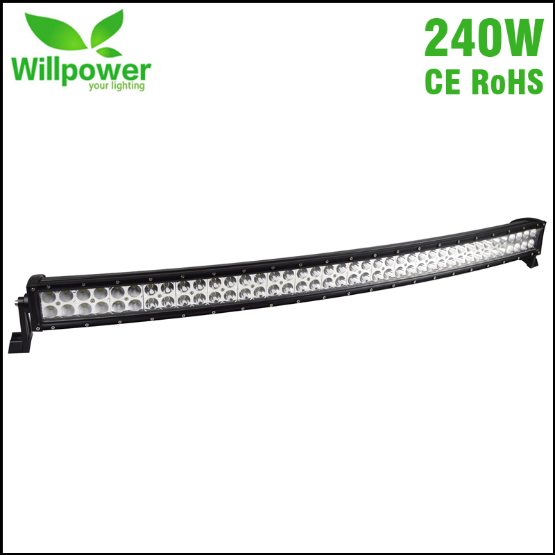 IP67 waterproof 42 inch 240W 4x4 off road curved led light bar for offroad led work light 12v