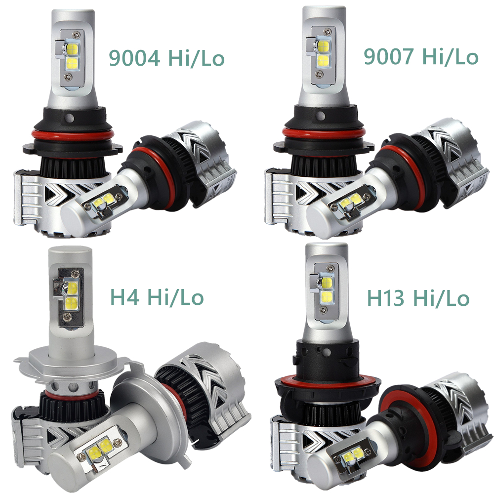 1Pair Car LED Headlight H4 Hi-Lo Beam 72W Fog Driving lamp Auto Led Headlamp H13 9004 9007 High Low Beam LED Headlights Bulb Car 3 port usb type c charger 75w 5v 20v power delivery pd qc 4 charger station for new macbook dell samsung afc huawei fcp