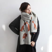 ladies scarves 2017 winter fashion warm fox scarf for women Imitation cashmere shawls and scarves new style tartan scarf