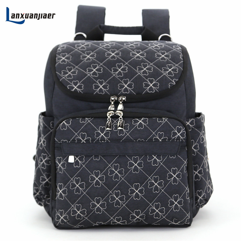 Mummy backpack baby nappy diaper bag shoulder mommy maternity stroller bag  multifunction babies care product 4 piece set mummy page 4