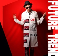 Cheap and fashion White PU cloth paste collage long coat Nightclub Men Singers Star Stage Show Coat Hairstylist Costumes !