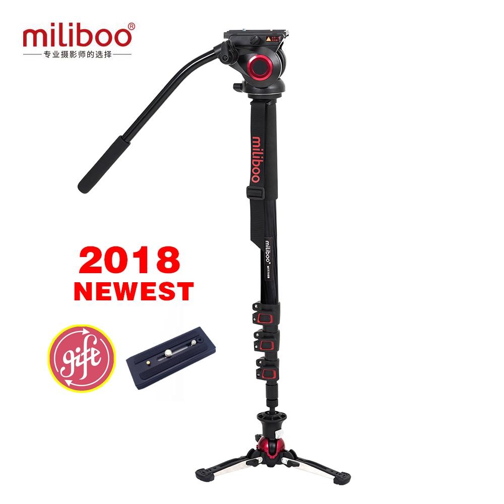 Miliboo MTT705BS Aluminium Carbone Portable Voyage Caméra Monopode avec Hydraulique Tête trépied Manfrotto