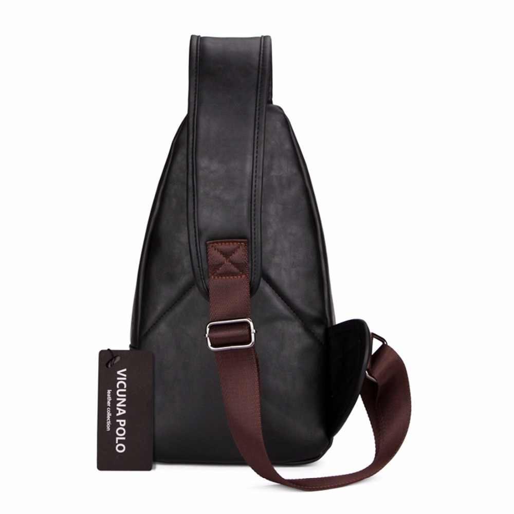 4388911a4a75 ... VICUNA POLO, очень большая модная мужская сумка через плечо, черная  кожаная мужская сумка- ...