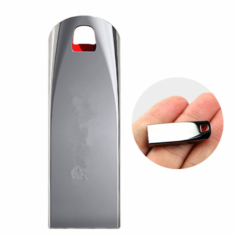 USB 2.0 Usb Flash Drives real capacity metal case Pen Drive 4GB 8GB 16GB 32GB 64GB 128GB original portable Pendrives