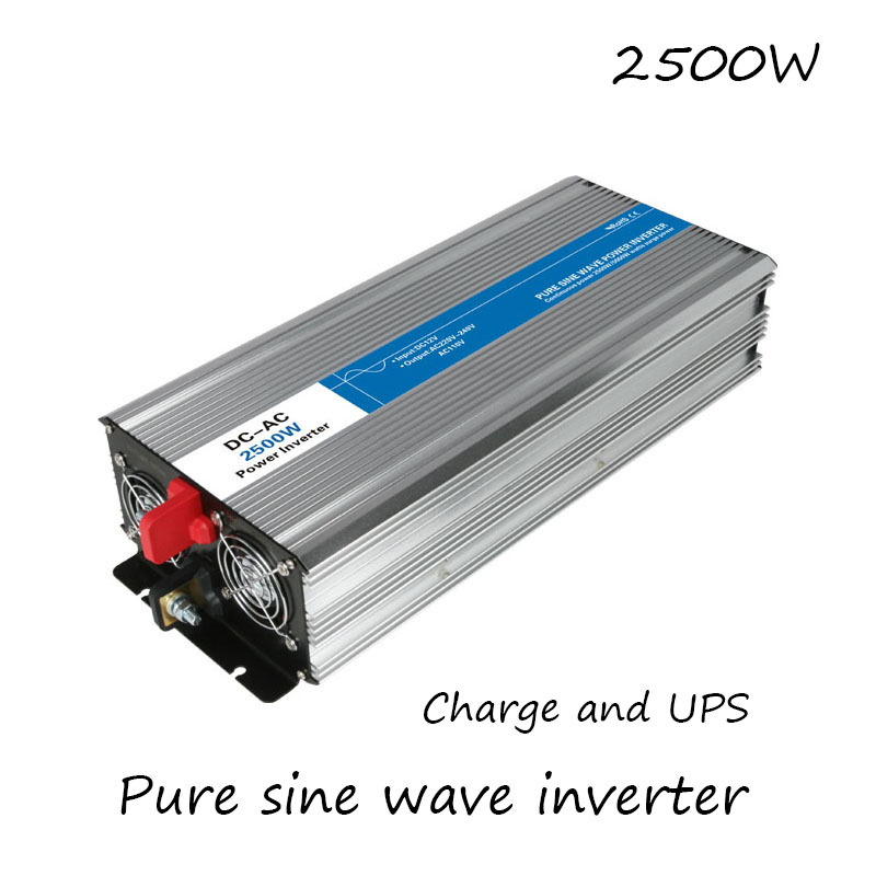 DC-AC 2500W Pure Sine Wave Inverter 12V To 220V Converters With Charge UPS Electric Power Supply LED Digital Display USB China fast shipping dc to ac 12v to 220v pure sine wave inverter 5000w peak 10000w inverter pure sine wave power converters