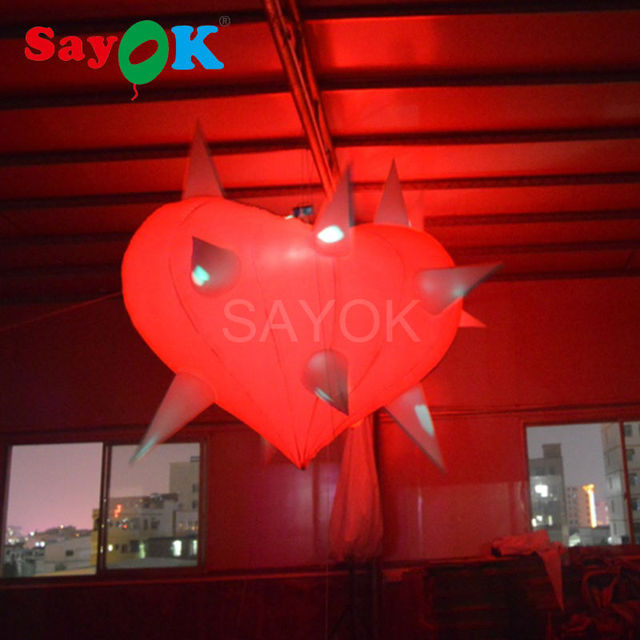 Free Shipment Durable Inflatable Heart With LED Lighting For Valentinesu0027  Day Wedding Decoration Inflatable Heart