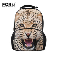 Fashion Leopard Backpack For Boys Men Cool Animal Teenage Leisure Mochilas College Students Sport Tourism Laptop
