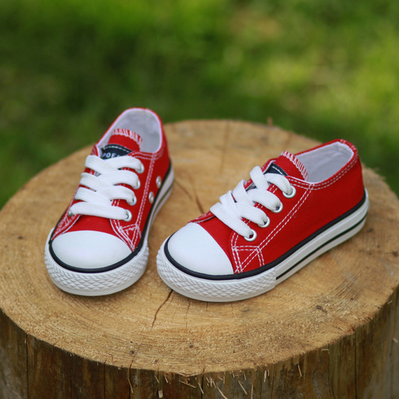 2017 Canvas Children Shoes Sport Breathable Boys Sneakers Brand Kids Shoes for Girls Jeans Denim Casual Child Flat Canvas Shoes(China)
