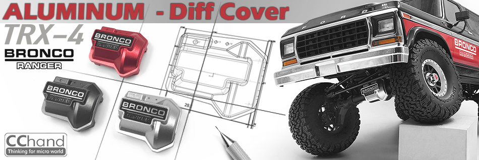 metal diff cover axle guard For 1/10 Scale trx-4 Ford BRONCO Crawler Car hpi king 1973 ford bronco