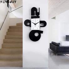 Grande Decoração Arte Relógio de Parede Simples E Moderno Quarto Sala de estar Pendurado Relógio de Parede de Moda Casa Em Silêncio Relógio de Parede de Quartzo De Grande relógio