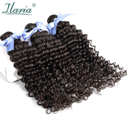 ILARIA HAIR Malaysian Curly Hair Deep Wave Bundles Unprocessed Virgin Human Hair Weaves Bundles Natural Color Free Shipping 3