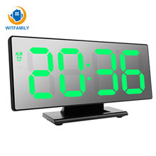 Elektronische Horloge Tafel temperatuur display Multifunctionele Snooze Night groot aantal Display LED Desktop Wekkers Despertador(China)