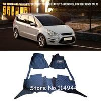 For Ford S Max 2006 2014 7 seats Waterproof Custom Car Floor Mats Carpets Full Set