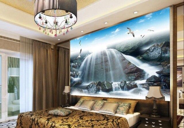 US $36.0 |3d wallpaper murale cascata contesto del salone TV camera da  letto 3d photo wallpaper Non tessuto carta da parati Decorazione Della  Parete ...